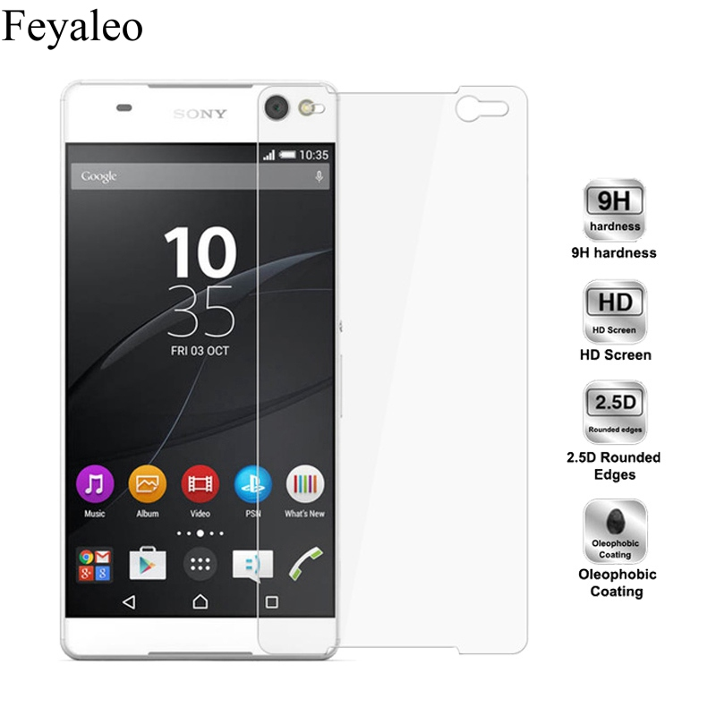For Sony Xperia C5 E5553 E5506 Case 9H 2.5D Tempered Glass For Sony Xperia C5 Ultra Dual Protective Cover Screen Protector Film