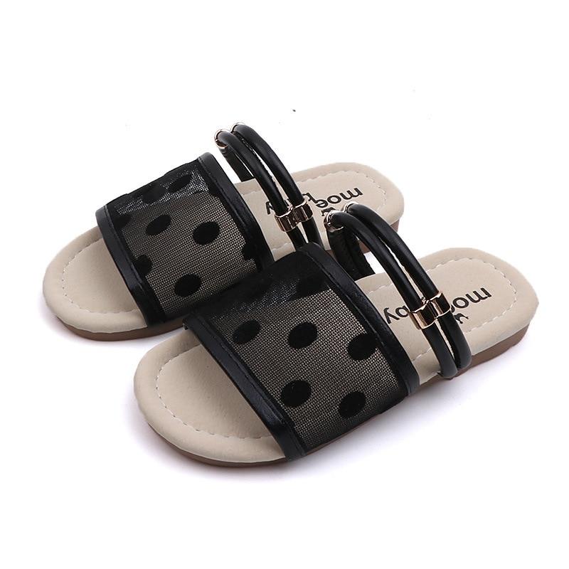 MHYONS2020 Summer New Girls Soft Bottom Slippers Wild Open Toe Baby Fashion Non-slip Beach Shoes Children's Home Sandals