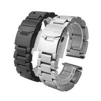 Отличное качество металла Нержавеющаясталь часы Группа ремешок для Garmin Fenix 3/hr Лидер продаж 2016 года черный/Серебристые модные Дизайн