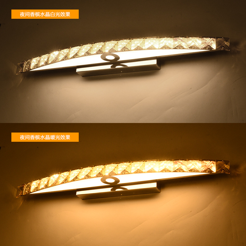 15W 54CM LED Crystal Mirror Wall Lamp SMD 2835 Bathroom Lights 90 ...