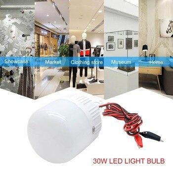 12V 30W Solar Panel LED Light Bulb Indoor Outdoor Camping Solar Hunting Emergency Solar Lamp Camp Tent Light Energy Store