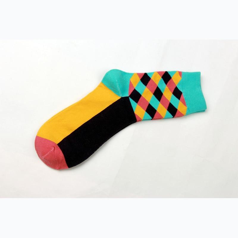 Duoge business bavlna módní trendy pánské ponožky nové šťastné ... c0f422a0b6