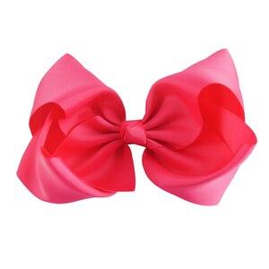 "Image 5 - 30 Stks/partij 8 ""Handgemaakte Massief Grote Hair Bow Voor Meisjes Kids Grosgrain Lint Boog Met Clips Boutique Big Hair accessoires"