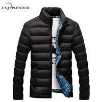 Unisplendor冬男性ジャケット2018ブランドカジュアルメンズジャケットとコート厚いパーカー男性生き抜く4xlジャケット男性服YN668