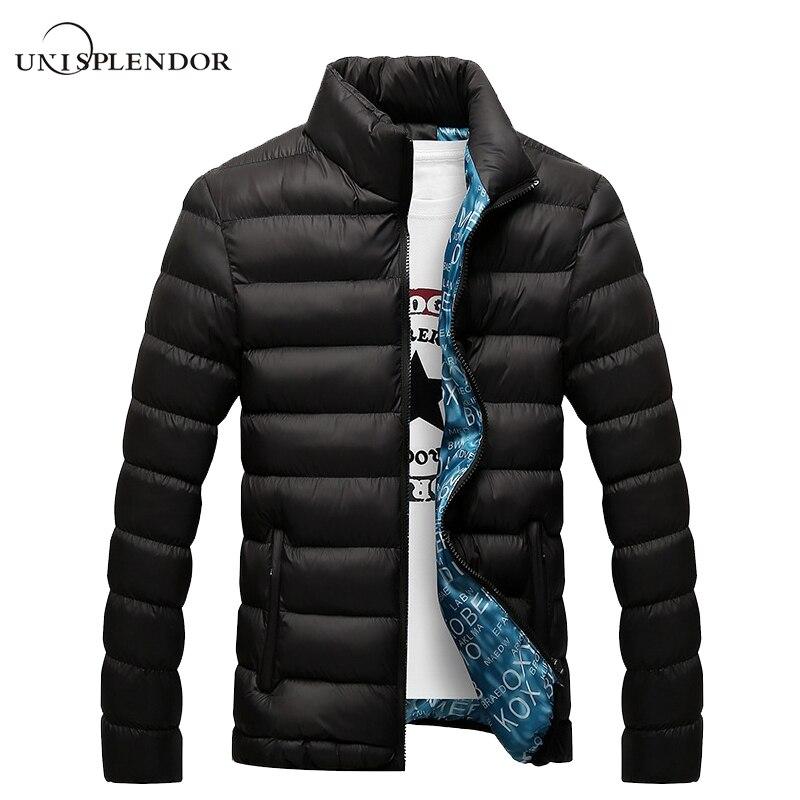 Unisplendor Hiver Hommes Veste 2018 Marque Casual Mens Vestes Et Manteaux  Épais Parka Hommes Outwear 4XL Veste Mâle Vêtements YN668 9e455735adae