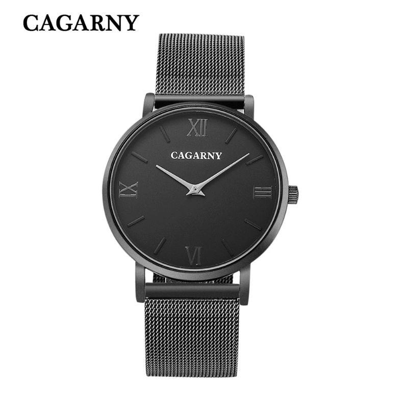 где купить Luxury fashion brand business casual men's watches stainless steel mesh belt slim waterproof quartz watch dial relogio masculino по лучшей цене