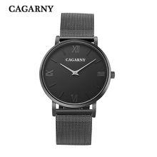 Marca de moda de lujo casual de negocios cinturón de malla de acero inoxidable relojes de los hombres reloj de cuarzo resistente dial relogio masculino