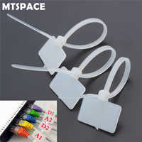 MTSPACE 100 Pcs Zip Krawatten Schreiben Draht Power Kabel Etikett Mark Tag Nylon Self-Locking Tie Netzwerk Kabel Marker kabel Draht Strap Zip
