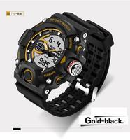 SANDA Men Women Waterproof Outdoor Sports G Style Shock Quartz Watches Dual Timezone Digital Watch Military