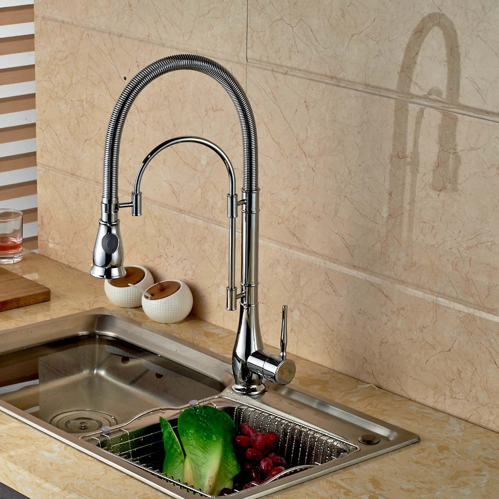 Deck Mounted Kitchen Faucet Swivel Spout Vessel Sink Mixer Tap Dual Sprayer Spring Kithcen Faucet Hot And Cold Mixer corporate governance audit quality and opportunistic earnings