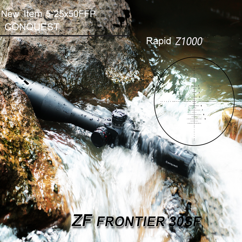 Carl Zeiss Conquest New Reticle Z1000 5-25X50 FFP Frontier Optic Side Parallax Tactical Hunting Scopes with Red and Green Lights бинокль carl zeiss 8x56 t conquest