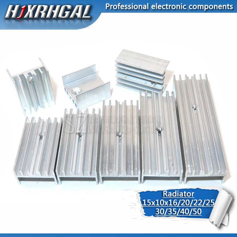 10 Pcs Aluminium Heatsink Radiator 15*10*16/20/22/25/30/40 /50 Mm Transistor untuk-220 Hjxrhgal untuk Transistor TO220 Putih Hjxrhgal