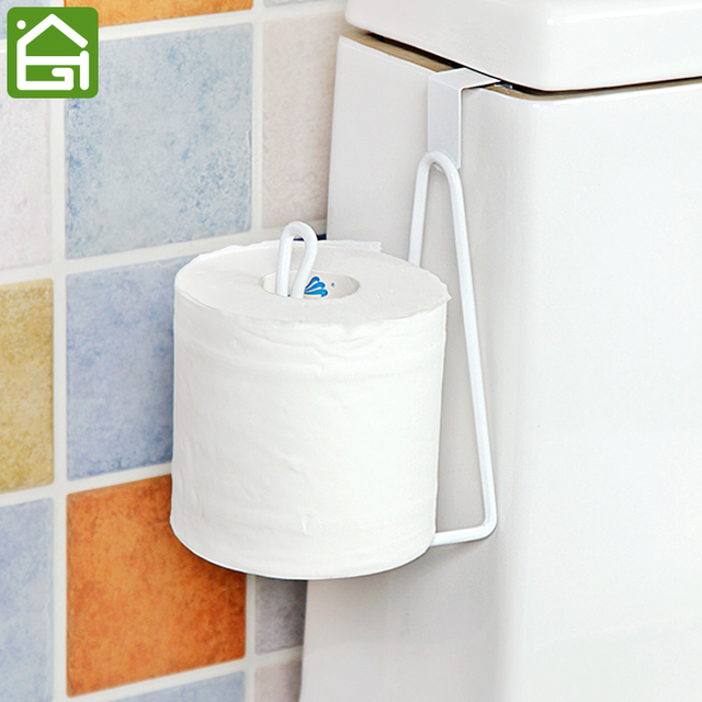 Bathroom Organizer Rack Toilet Roll Paper Hook Kitchen Cupboard Door Towel  Pot Hanger Holder Tissue Hanger