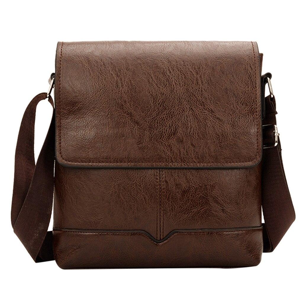Men's Business Softback Diagonal Cross Bag Versatile Briefcase Solid Color Satchels Classic Shoulder Bag Great Present Apr 30