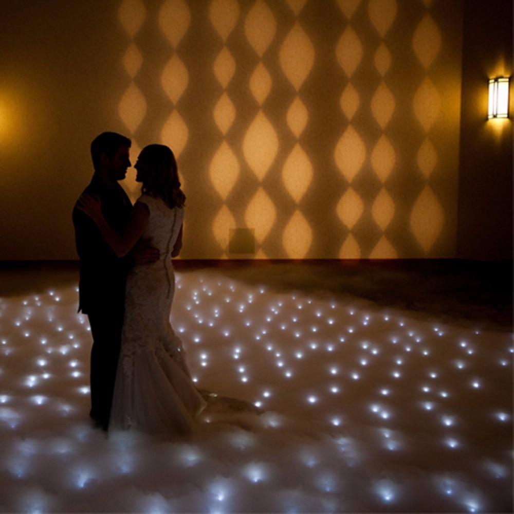 12*12 Feet White Flashing Dance Floor Sparkling Dancefloor