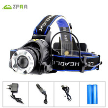 ZPAA LED Headlamp Headlight Motion Sensor Aluminum 5000lm Zoom T6 L2 Head Flashlight Lamp 18650 Front Light for Fishing Hunting