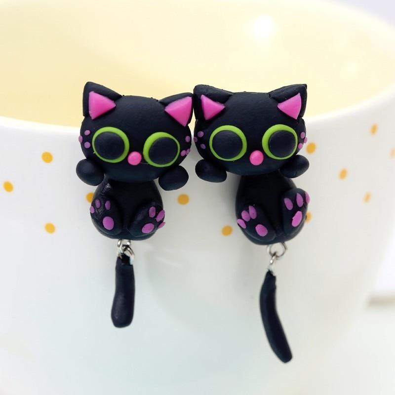 Handmade Cute Cat Earring