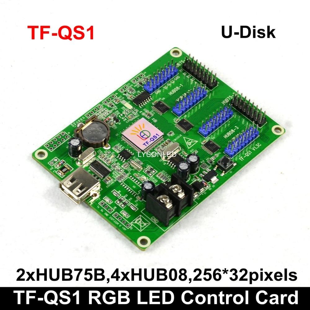 Free Shipping LongGreat TF-QS1 256*32 Pixels USB-disk ASynchronization RGB LED Control Card 4xhub08 2xhub75Free Shipping LongGreat TF-QS1 256*32 Pixels USB-disk ASynchronization RGB LED Control Card 4xhub08 2xhub75