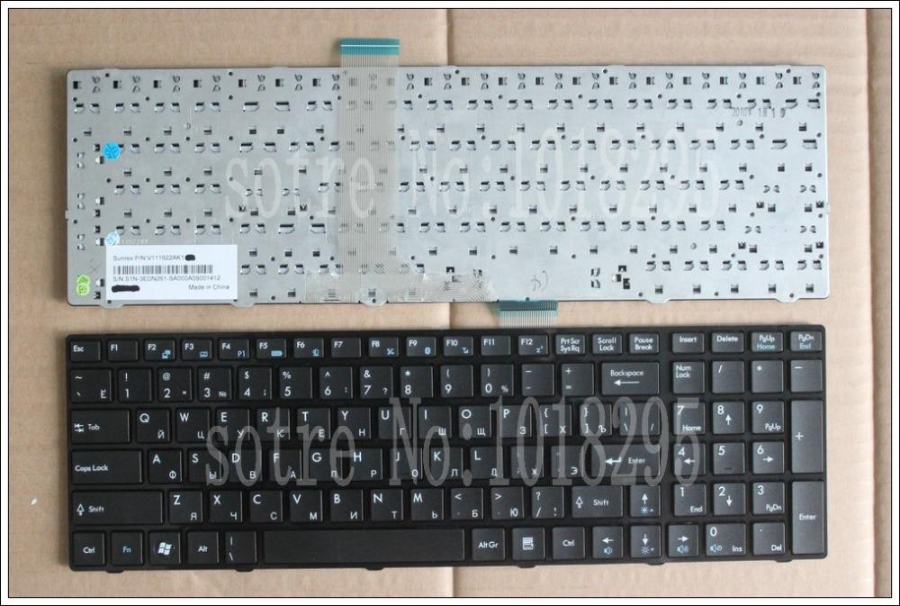 RUSSIA Laptop keyboard for MSI GT680 GT680R GT683 GT683R GT683DX GT683DXR GX660 GX660R GX680 P600 S6000 X620 RU BLACK