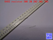 0402 F SMD resistor 1/16W 5.6M 2M 2.2M 5.1M 7.5M ohm 1% 1005 Chip resistor 500PCS/LOT