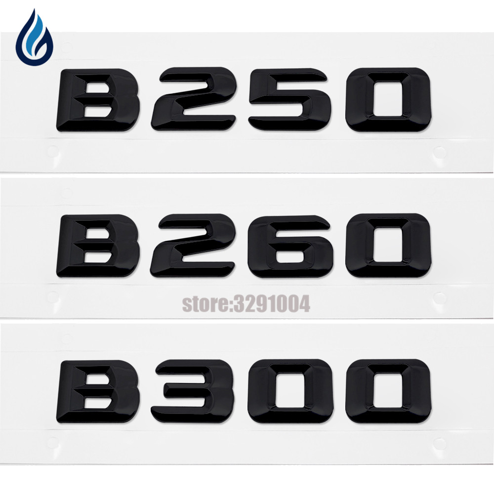 For Mercedes Benz W245 W246 W242 B-Class B300 B250 B260 Emblem Logo Badge Rear Trunk Letters 3d Sticker Car Styling car rear trunk security shield cargo cover for mercedes benz ml class w164 ml300 ml350 ml500 2006 2012 high qualit accessories