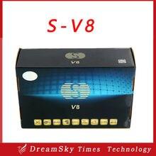 5 unids/lote S-V8 HD TV vía satélite receptor de la ayuda 2 xUSB WEB TV Cccamd / Newcamd / MGCamd / AvatarCam pronóstico del tiempo red EPG