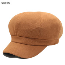 SUOGRY  Women Beret Corduroy Octagonal Cap Painter Hat Men Newsboy Hats Female Vintage Winter For Flat
