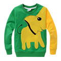 2017 New Arrivel Kids Hoodies Cartoon Elephant Design Spring Boys & Girls Hoody Top Quality Children's Autumn Wear 4 Color