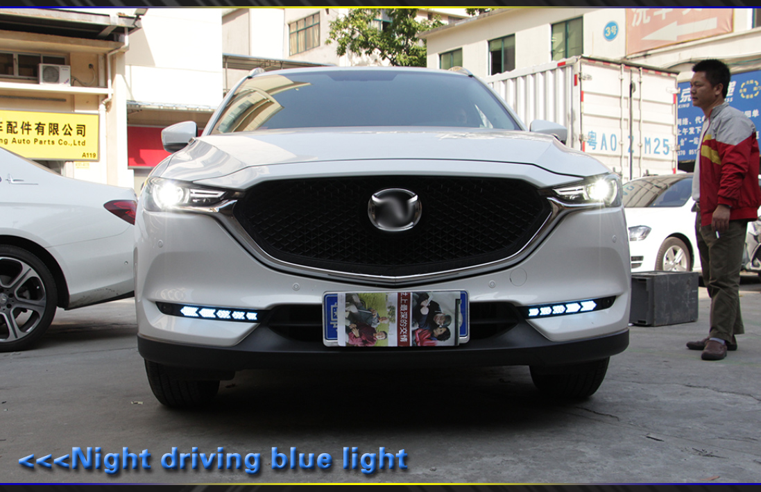 Customized OEM led drl for Mazda cx-5 2018 led drl with running signal