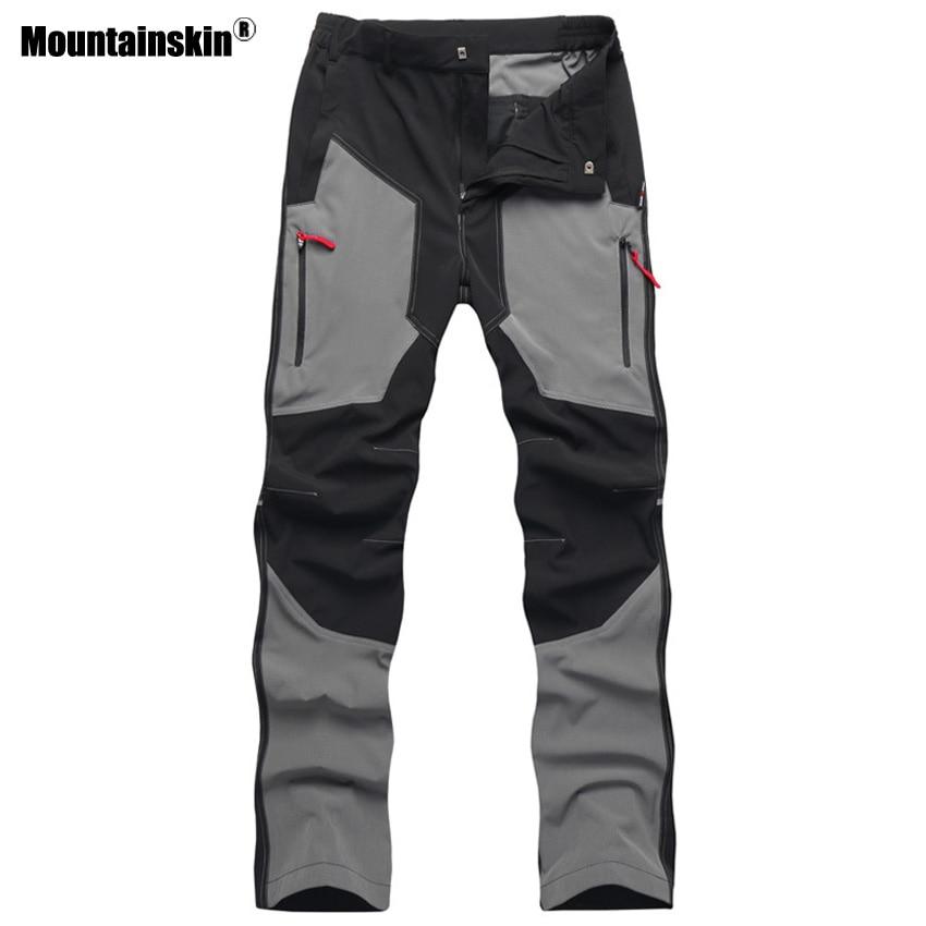 Mountainskin Summer Men Sports Hiking Pants Waterproof Breathable Outdoor Camping Trip Trekking Fishing Tactical Trousers VA259