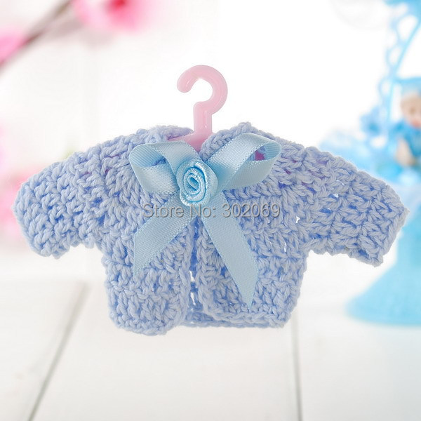 hot sale Mini Baby Shower Party Gift, Crochet Mini Baby Dress Clothes 12pcs