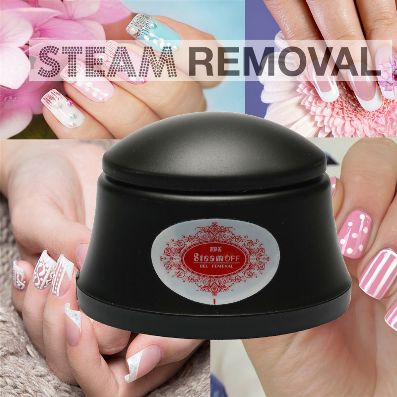 New Arrival Nail Gel Polish Remover Machine Steam Off Gel Removal Nail Steamer For Home& Nail Salon Pro Beauty Nail Art-in Nail Polish Remover from Beauty & Health    1