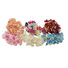 20pcs/lot 5cm*11cm 6Colors Artificial Berry Plum Flower Stamen  Fake Flowers Garland For DIY Wedding Scrapbooking Decoration