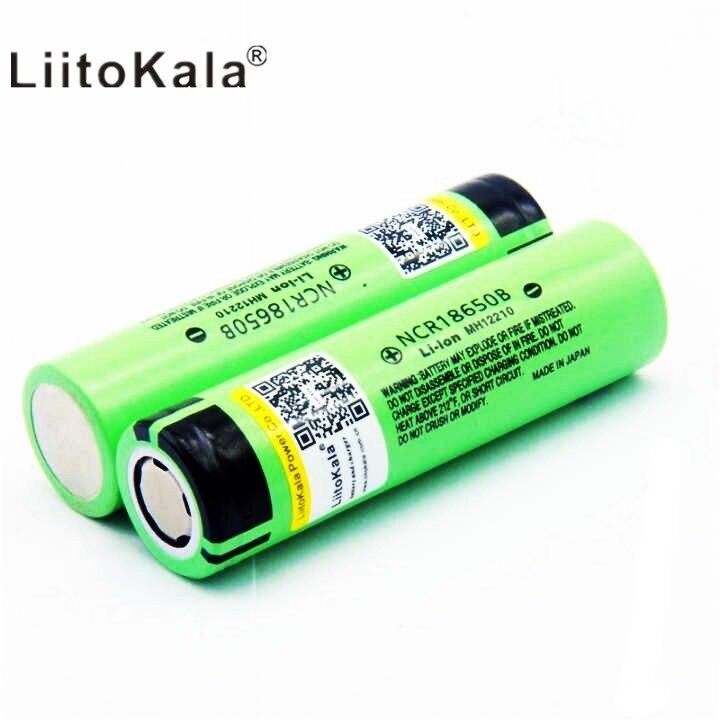 100 pièces 2018 original liitokala NCR18650B 3.7 v 3400 mah 18650 3400 mah rechargeable lithium batterie