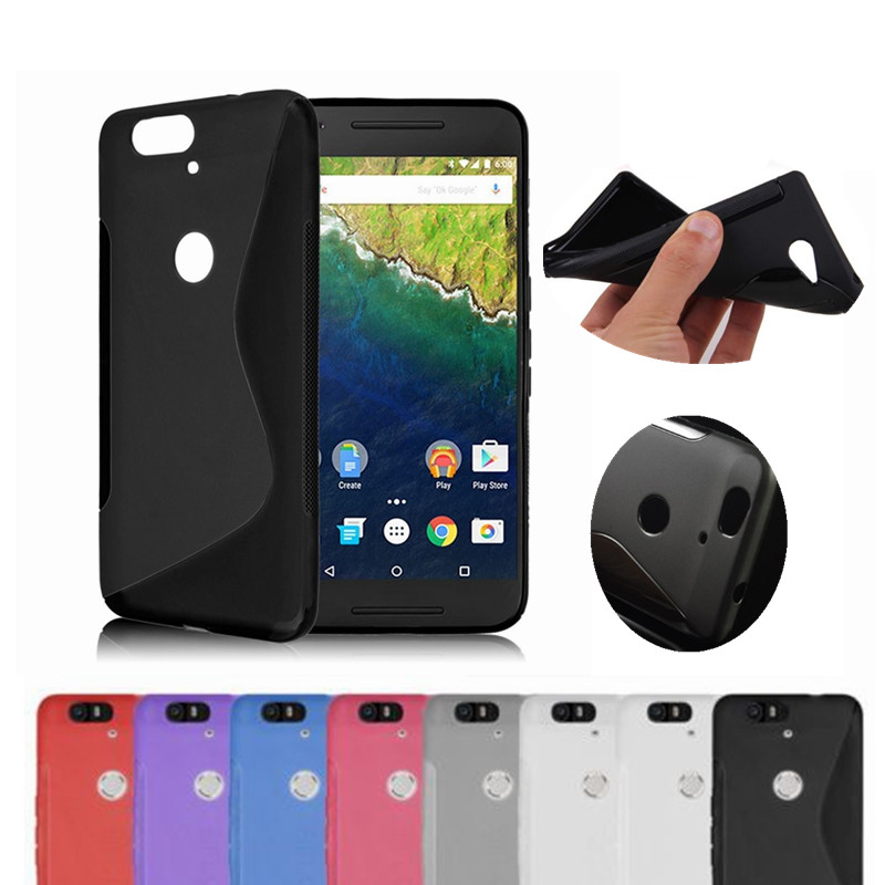 promo code 25373 6f4b1 US $1.99 |AtomBros S Line Soft TPU Gel Skin Transparent Cover Case For  Huawei Nexus 6P Google Silicone Phone Protective Shockproof Cases-in ...