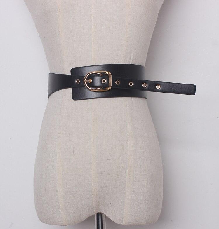 Women's Runway Fashion Solid PU Leather Cummerbunds Female Dress Corsets Waistband Belts Decoration Wide Belt R1356