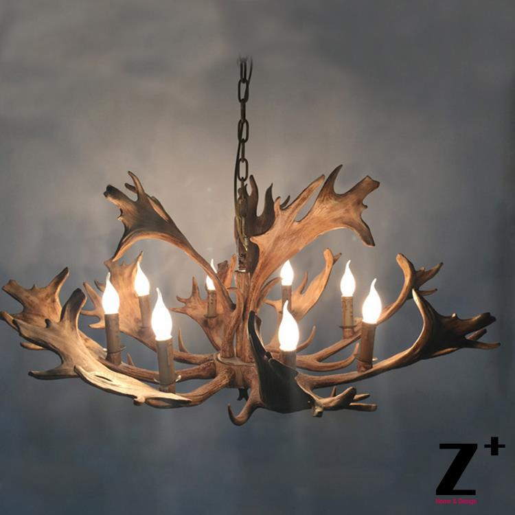 где купить High Quality American Country Style  Rustic Moose 4  Chandelier Deer Horn lamp light Resin free shipping дешево
