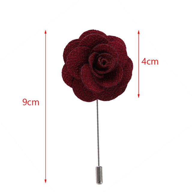 Camellia Flower Lapel Pin - Handmade flower brooch pins for men's and women's suits 5