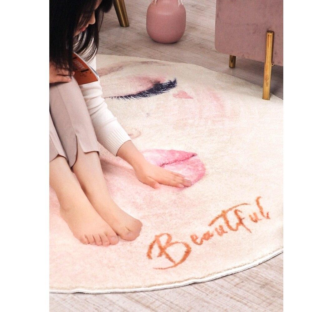 Mode tapis rond chambre ins chambre salon table basse tapis de chevet tapis anti-dérapant tapis fort absorbant