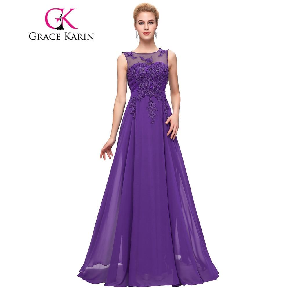 Grace karin lange abendkleid sleeveless formales abschlussball kleid ...