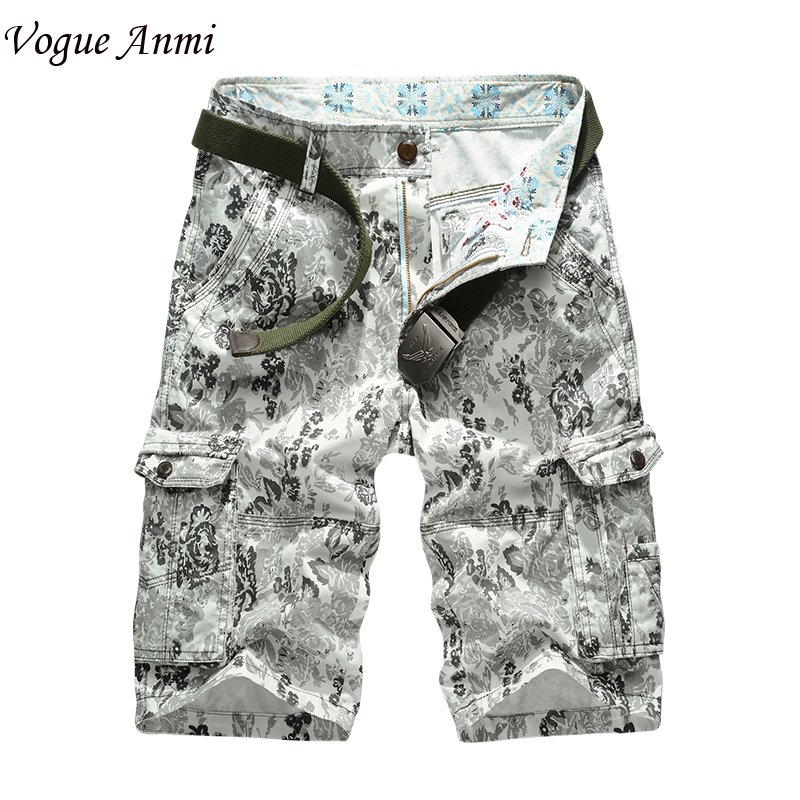 Men Camouflage Overall 2017 New Multipocket Cargo Shorts Loose Spring Summer Fashion For Mens Military Short 30-40,1570