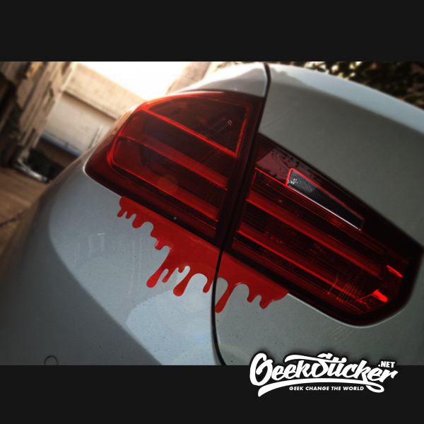 Free shipping 2 pcs lot cool blood reflective car sticker tail light window decals for