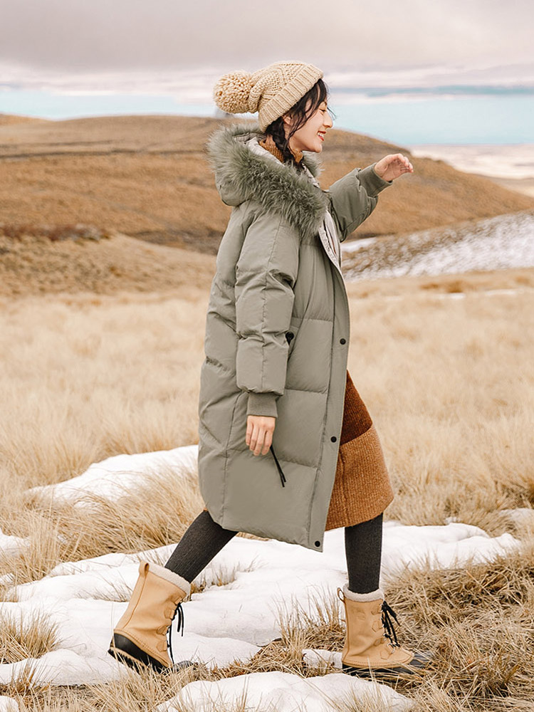 INMAN Winter New Arrival Female Hooded Fur Collar Loose Casual Thickening   Down     Coat
