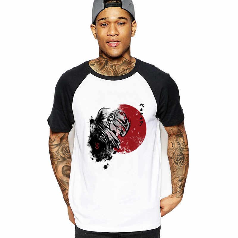 Плюс Размеры красное солнце кишки берсерка для костюмированной вечеринки по японскому аниме футболка ahegao Для мужчин Изделие из хлопка с короткими рукавами на заказ Мужская футболка Подростковая безрукавка футболка