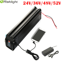 24V/36V/48V Electric Bike Lithium Battery Fit For 250W to 1500w Motor Power Ebike Electric Bicycle Battery 10AH/12AH/15AH/20AH