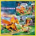 10503 bela elfos azari la mágica panadería fire dragon 41175 blockset niñas princesa de hadas compatiable con lego bloques de construcción