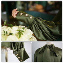 Satin Lantern Sleeve Shirt
