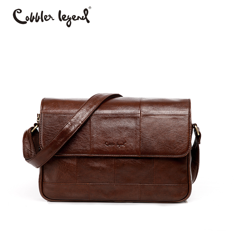 Cobbler Legend 2018 New Genuine Leather Messenger Bag Men Designer Handbags High Quality Crossbody Bag Luxury Men Shoulder Bags cobbler legend luxury handbags women bags designer small genuine leather shoulder crossbody bag mini zipper female designer bag