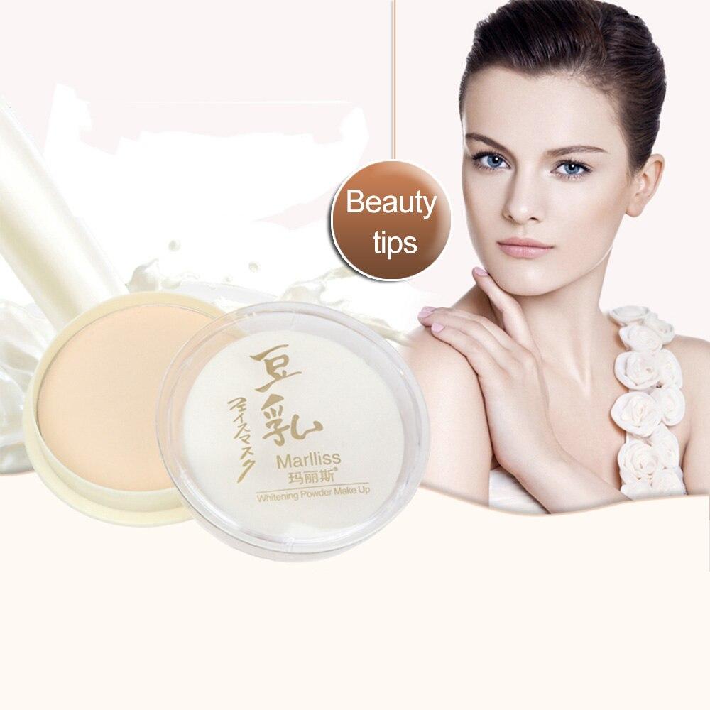 1 Pcs Natural Dry Powder Color Pressed Soymilk Face Concealer Oil Control Powder Makeup Face Care 3 Colors