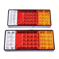 2pcs Car Rear Lamps Truck Boat Trailer Plastic Taillight 44 LED 12V Waterproof Car Truck Tail